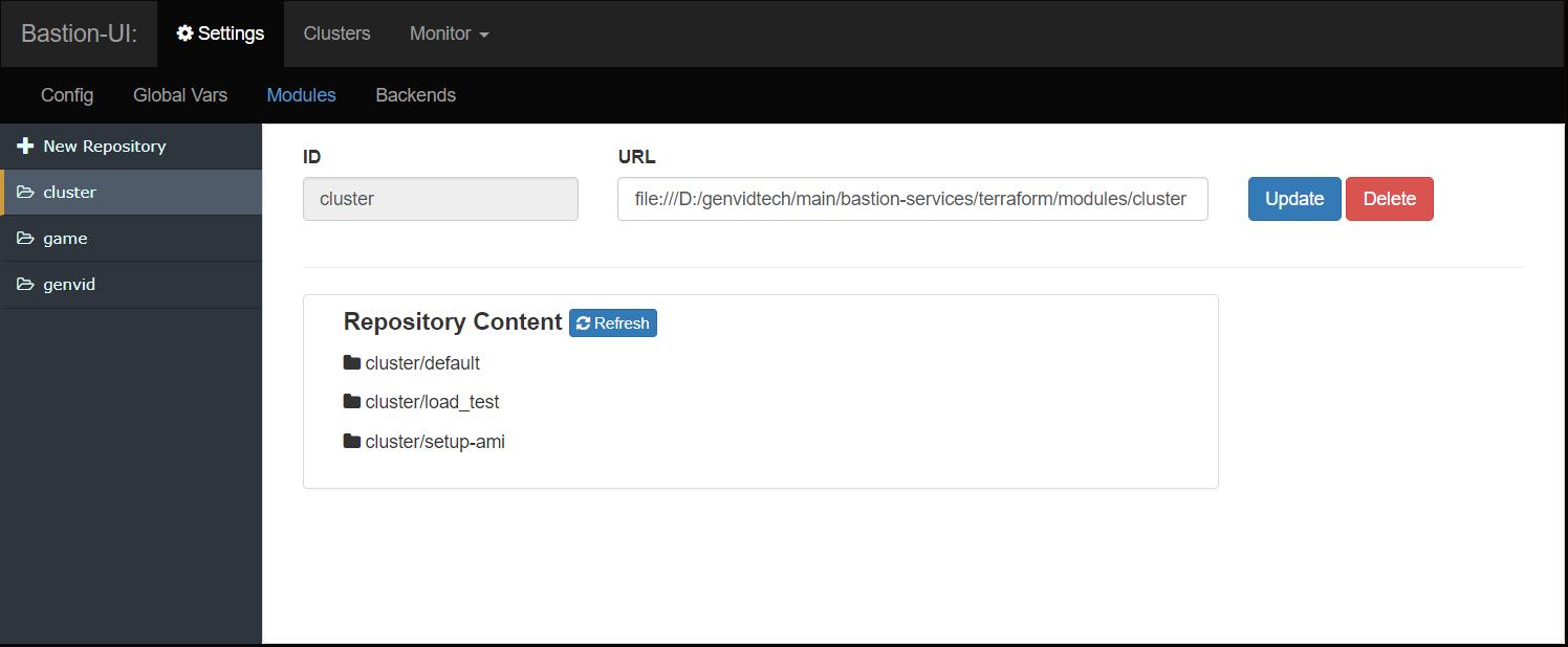 Bastion UI — Genvid Documentation 1 12 0 documentation