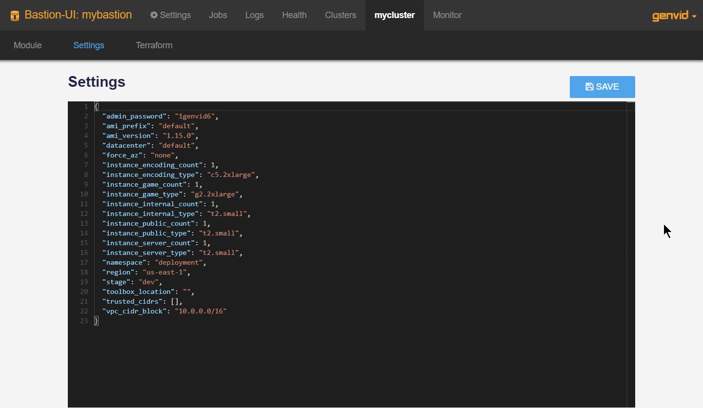 Bastion UI — Genvid Documentation 1 15 0 documentation