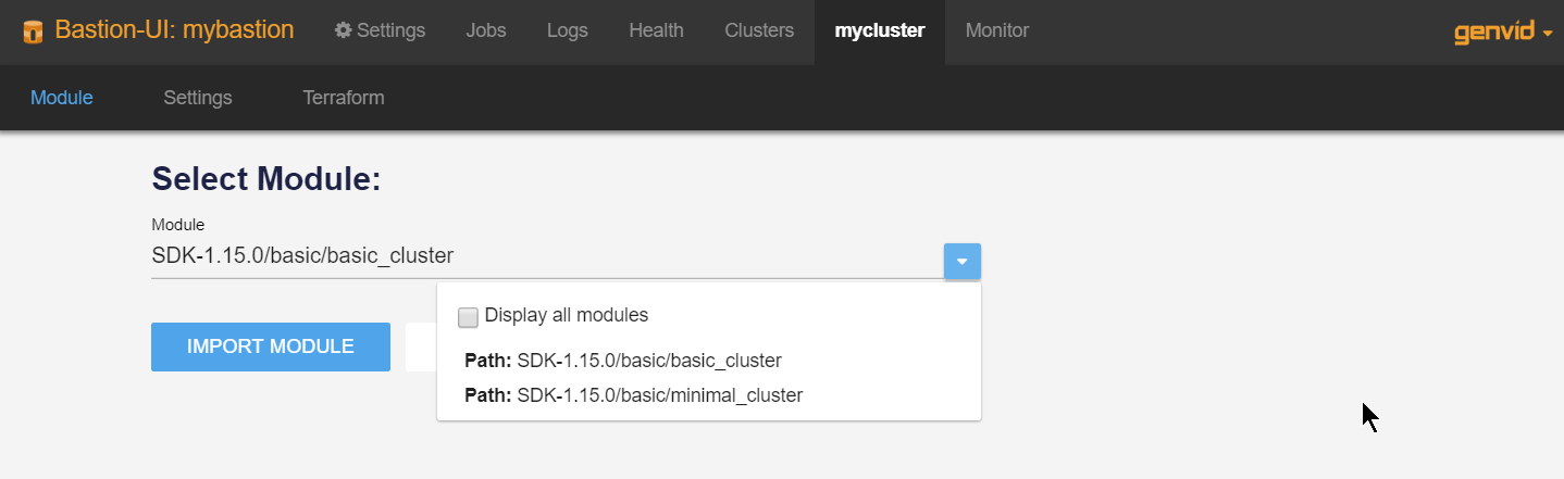 Clusters — Genvid Documentation 1 15 1 documentation